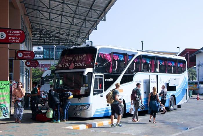 Autobuses de Bangkok a Chiang Mai