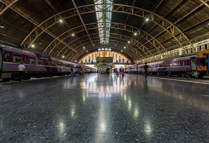 Estación de trenes Hua Lamphong en Bangkok