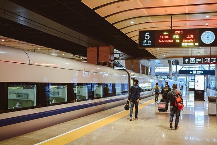 De Pekín a Shanghái en tren