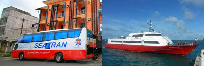 Billete combinado de autobús y ferry de Krabi a Koh Phangan Seatran