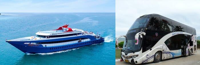 Billete combinado de autobús y ferry de Krabi a Koh Phangan Songserm