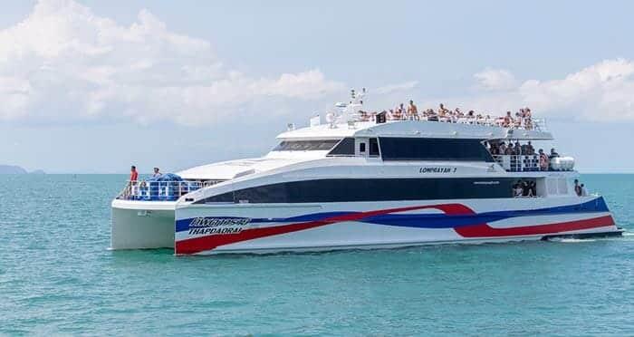 De Koh Phangan a Koh Samui en ferry rápido