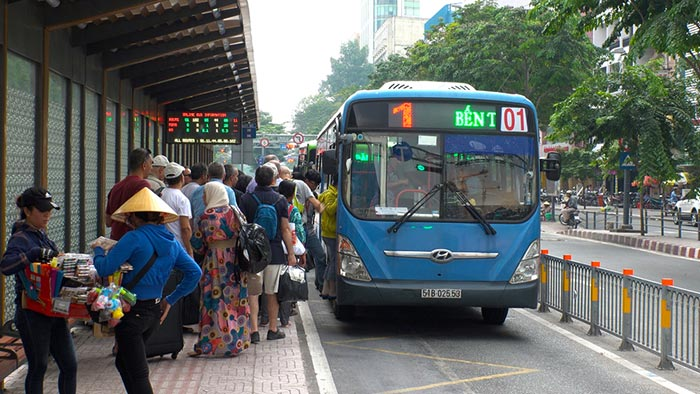 Autbuses locales en Vietnam