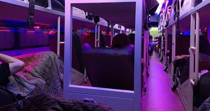 Autobús con cama en Vietnam