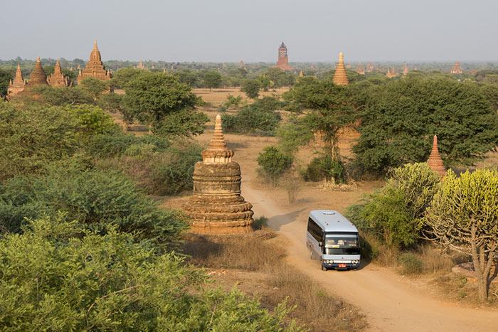 Opciones de transporte de Rangún a Bagan