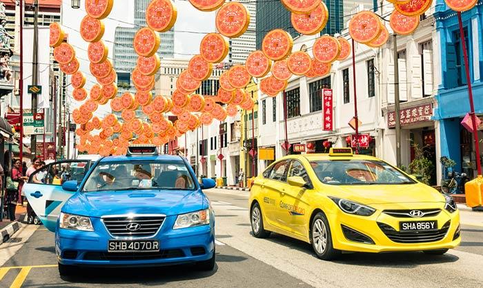 Taxi de Singapur a Malaca