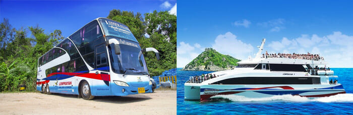 Autobús y ferry de Pattaya a Koh Samui