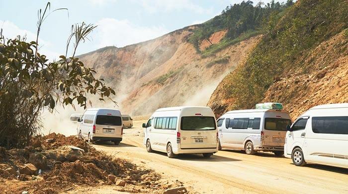 De Vientián a Vang Vieng en furgoneta
