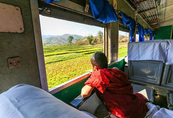 Trenes para ir de Rangún a Mandalay