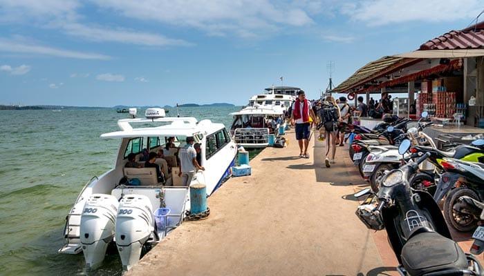 Ferry de alta velocidad y barco rápido de Sihanoukville a Koh Rong