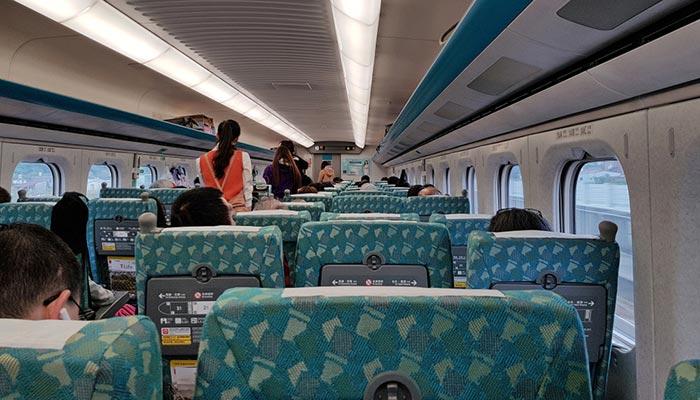 De Taipéi a Taichung en tren
