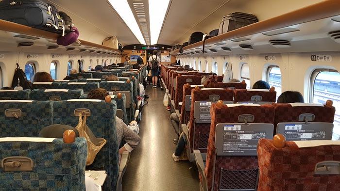 De Nagoya a Tokio en tren