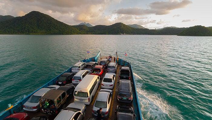 Ferris a Koh Chang, Koh Wai, Koh Mak y Koh Kood