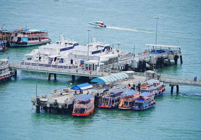 De Pattaya a Hua Hin en ferry