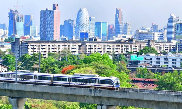 Airport Rail Link del Aeropuerto de Suvarnabhumi a Bangkok