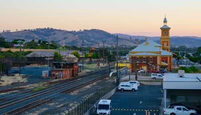 De Albury a Canberra en tren
