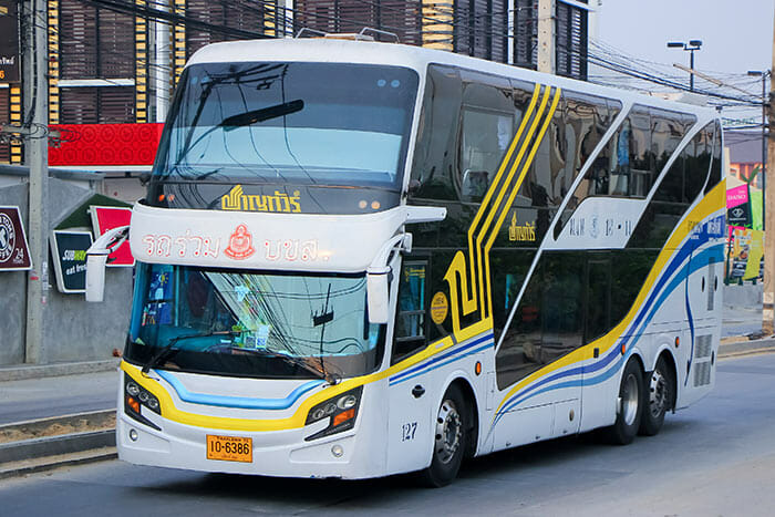 En autobús de Bangkok a Nong Khai