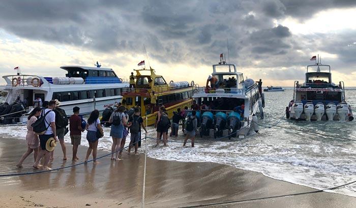 De Sanur a Nusa Penida en barco